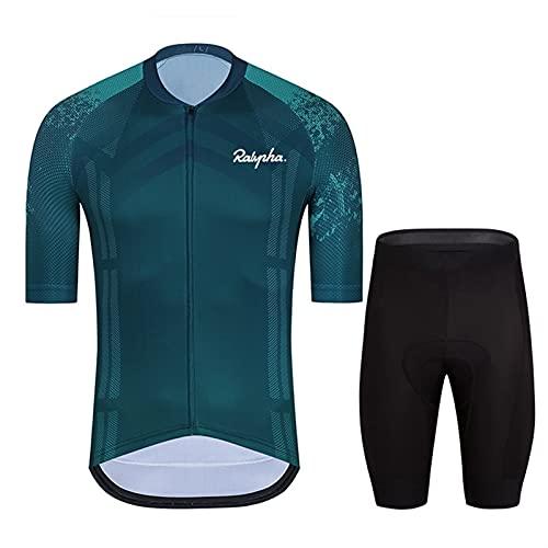 Jersey de ciclismo para hombre Hombres transpirable Seco rápido Cómodo manga corta Jersey y pantalones cortos Ciclismo Ropa de ciclismo Ciclismo Ropa de ropa especializada Ropa de bicicleta Maillot d