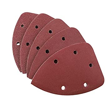 Coceca 100pcs Mouse Sander Pads Detail Sandpaper Assorted 20 Each of 40 80 120 180 240 Grits Hook and Loop Sanding Sheets for Detail Sander