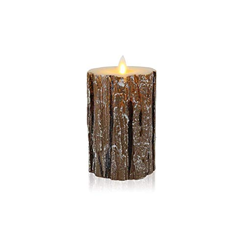Fancylande Unieke dennenboom elektronische kaars zonder vlam Kerstkaars LED decoratielicht kaars nieuw nachtlampje 3 maten voor kerstfeest verjaardag typisch