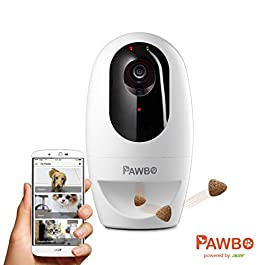 Pawbo Plus Interactive Pet Camera powered by ACER: Smart WiFi HD Video Camera with 2-Way Audio, Treat Dispenser with Dog and Cat Laser Pointer