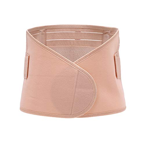 BOZEVON Faja Postparto Reductora - Transpirable Elástico Recuperación Post-Parto Vientre/Cintura/Soporte Pélvico Cinturón Faja para la Mujer y Maternidad, Beige-1/M 🔥