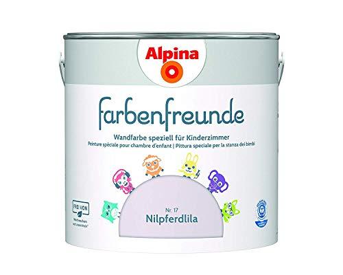 Alpina Farbenfreunde 2,5L Kinderzimmerfarbe Wandfarbe (Nr.17 Nilpferdlila)