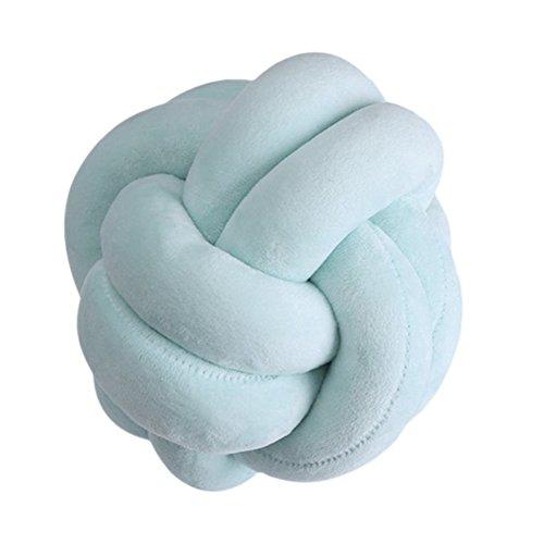 Adarl Rest Knot Pillow with Pillow Core Cushion Soft Plush Toy Throw Pillow Headrest Sleeping Helper Green-22cm/8.7inch
