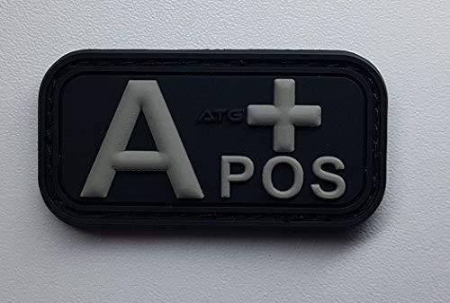 ATG Blutgruppen Patch (Schwarz, A +)