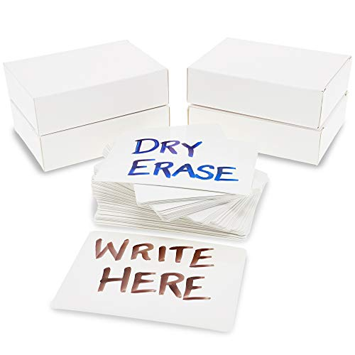 Juvale Blank Dry Erase Flash Cards (2.5 x 3.5 in, 216 Pieces)