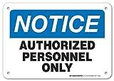HUIOP Aviso Autorizado Solo Personal Advertencia No Entrar Reglas de Barra de Diseño Vintage Original de Metal Estaño Arte de Pared Señalización 20 x 30 cm