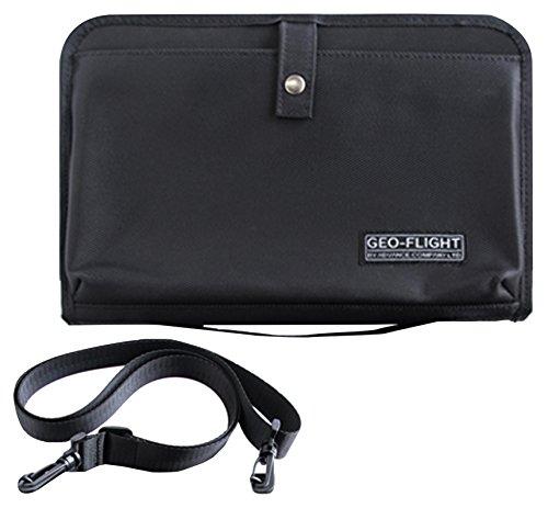 GEO FLIGHT 旅行用 オールインワン ショルダー 付き オーガナイザー バッグ (パスポート 財布 チケット などに)