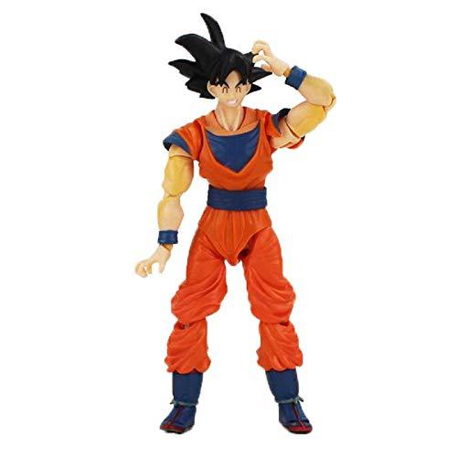 Yasdf 16 Cm Dragon Ball Son Goku Saiyan Shf Anime Movable Con Pelo Negro Pvc Figura De Acción Coleccionable Modelo Juguete