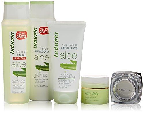 Babaria Aloe Vera Cuidado Facial Lote 4 Pz 1 Unidad 500 g