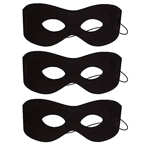 Clyhon Black Eye Maske, verstellbare Halbmaske für Kinder, Partyzubehör