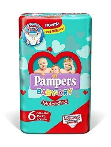 Pampers - Baby Dry Mutandino ExtraLarge Duo, 56 pannolini quattro confezioni da 14, Taglia 6 (15 + Kg) formato parafarmacia