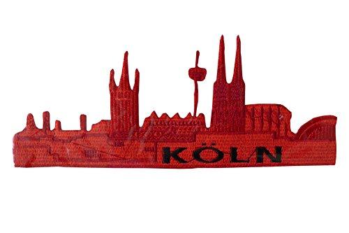 Unbekannt Tolles Bügelbild ~ Köln rot ~ Kölner Dom Skyline Applikation Karneval