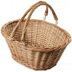 WSB12 Oval Wicker Shopping Log Kindling Vegetable Basket Large