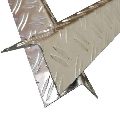 Alu Winkel, 1750mm Aluwinkel 100x30 mm Schenkelinnenmaß aus Alu Riffelblech Duett 1,5/2,0 mm stark Abdeckleiste,Winkelprofil,