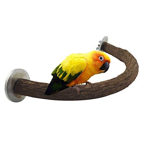 Perchoir en bois en forme de U pour cage à oiseaux - Pour perroquet, perruche, calopsitte, conure, pinson, inséparable, gris du Gabon, amazone