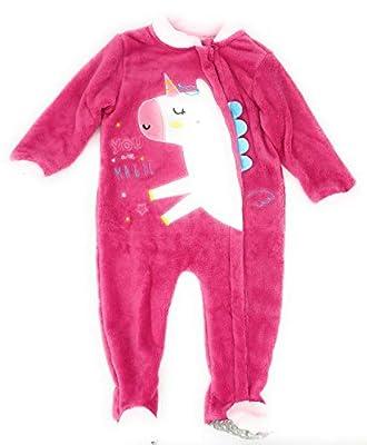 Pijama para bebé/Mameluco bebé/Pijama Entero de Unicornio para niñas/Pelele Invierno con Apertura Delantera, Muy calentito. (36 Meses)