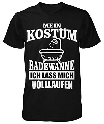 Kostüm Badewanne T-Shirt   Fasching   Karneval   Lustig   Fun   Spaß   Bier   Sprüche   Helau   Jeck  Köln  Karnevalskostüm  Nerd   Statement   Kölle Alaaf   Herren   Männer T-Shirt
