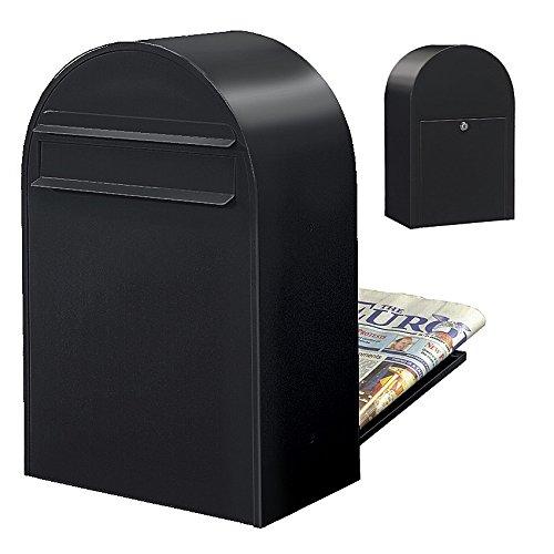 Bobi Classic B Briefkasten RAL 9005 strukturschwarz Zaunbriefkasten
