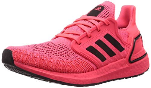adidas Ultraboost 20 Shoe for Running Jogging on Road or Light Trail with Neutral Support for Man Pink 6.5 UK