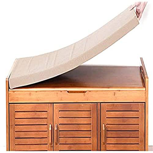 YuYiY Cojín para asiento de banco de 2 plazas para interiores y exteriores, 120 x 30 cm de largo, para sofá, cojín para jardín, columpio, patio, bahía, comedor, cocina (beige, 150 x 35 x 5 cm)