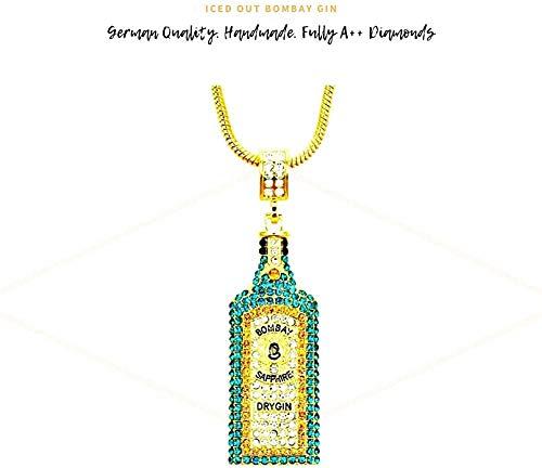 Bombay Gin Ice Out Chaîne pour homme avec diamant – Fabrication spéciale haut de gamme.