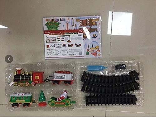 Tomaibaby Juego de Tren de Navidad Clásico con Humo Luces Y Sonidos...
