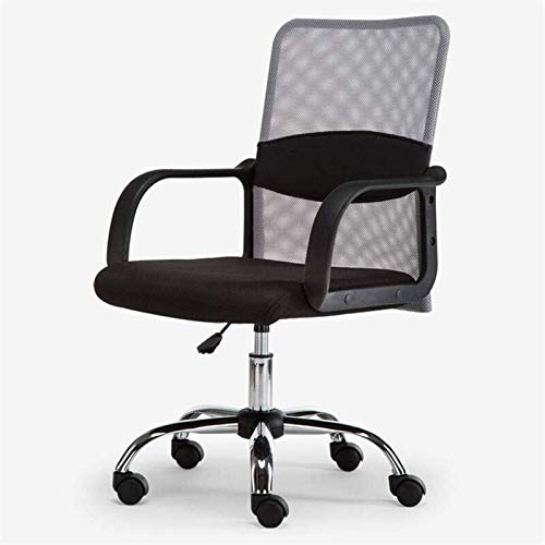 Patio Lounge Chairs Recliner Office Life Executive Recline Ergonomic Mesh Office Chair, Adjustable Height Lock Recliner Leisure Swivel Computer Desk Chair Office Chair (Color : Black) (Color