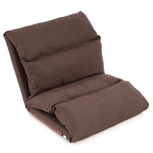 Nexos Lounger Relax-Sessel Lesestuhl mit Kissen - klappbar waschbar verstellbare Rückenlehne Schlaffunktion – 52x65x60 cm braun