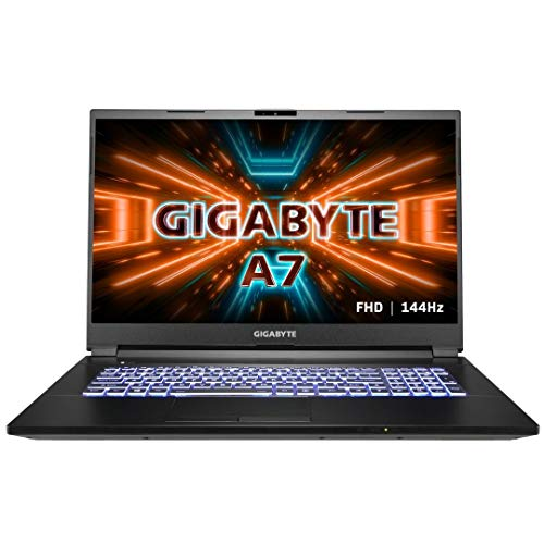 Gigabyte A7 K1-BUS1130SH Ultra Thin Gaming Laptop – 17.3″ Thin Bezel FHD (1920×1080) 144Hz IPS-Level Display w/ NVIDIA GeForce RTX 3060 – AMD Ryzen™ 7 5800H – 512 GB M.2 NVMe PCIe SSD, optional : 1 x NVMe PCIe SSD + 1 x 2.5″ SSD/HDD – 16 GB DDR4 3200MHz, upgradeable up to 64 GB DDR4 3200MHz)