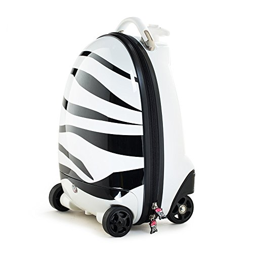 RICCO Kids Battery Powered Remote Control Walking Suitcase Cabin Hand...