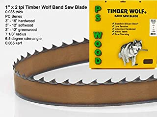 PS Wood Timber Wolf 131 1/2 x 1 x 2 tpi band saw blade