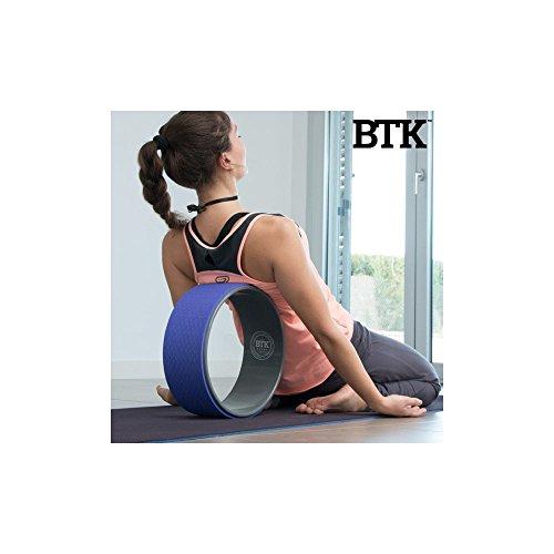 Apolyne BTK Rueda de Yoga y Pilates, Unisex Adulto, Morado, 33 cm