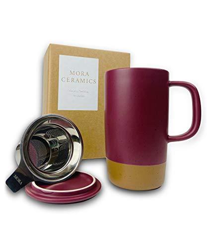 microwavable ceramic mug with lid - 5
