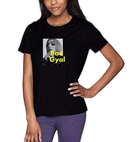 Music Artist Bad Gyal_WZ0032 T-Shirt, 100% Coton, Graphic tee, Top, Été, Hommes, Femmes, Mens, Womens, 2XL, Black