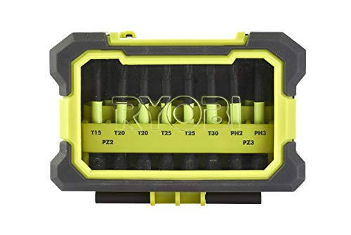 Ryobi 4892210149084 - Estuche antigolpes con 10 accesorios...