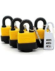 Outdoor hangslot Waterdicht hangslot Non-Corrosieve Lock Heavy Duty Lock All-Weather Alle Seizoen Lock 4 Stuk Set (Verstuur Bagage Lock)