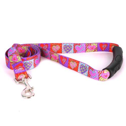 Yellow Dog Design Crazy Hearts Ez-Grip Dog Leash with Comfort Handle 1
