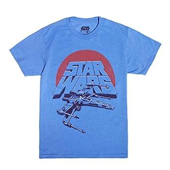 STAR WARS Big Boy s Vintage Inspired X-Wing Fighter T-Shirt Light Blue