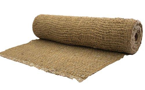 AK-Trading Jute Erosion Control, Soil Saver Mesh Blanket - 48' Wide x 10 Yards
