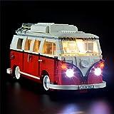 icuanuty Kit De Iluminación LED para Lego Creator VW T1 Camper Van Building Set Compatible con Lego 10220 (No Incluye El Juego Lego)