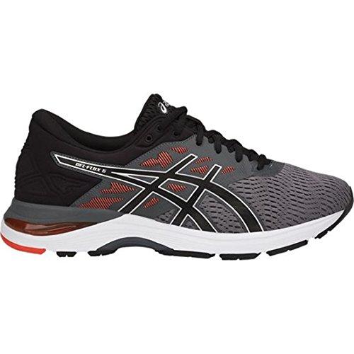 ASICS Gel-Flux 5 Shoe - Men's Running Carbon/Black/Cherry Tomato