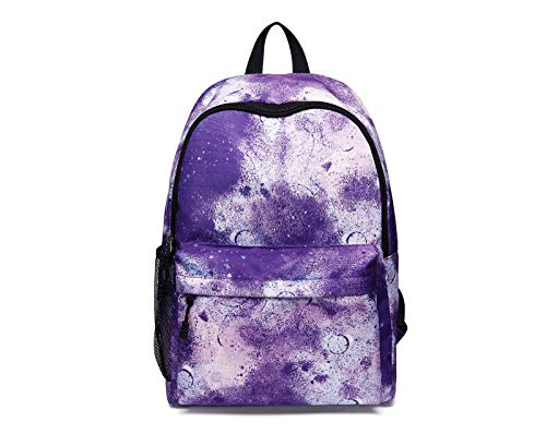 Star Backpack,Men and Women Backpack Star Backpack with USB Charging Port Student Bag Mountaineering Sports Leisure Travel Backpack (purple)