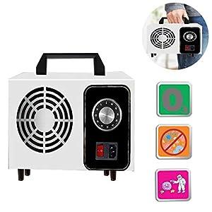 Lychee Generador de ozono Comercial con Temporizador ,10g/h 220V Purificador de Aire de ozono móvil Ozone Machine O3 para Hogar, Oficina, Hospital,Automóviles y Mascotas