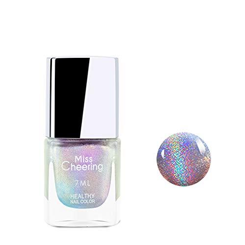 Freeorr Glitter Laser Nagellack, Shining Glitter Nail Art Langlebige Holographic Nagellack 7 ML-LS01