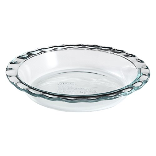 Pyrex corelle 1085800 'Pyrex Easy Grab' Glass Pie Plate - 9.5' (Pack of 2)