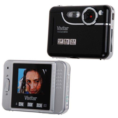 Vivitar V5018 Digital Camera with 1.8-Inch TFT LCD (Black)