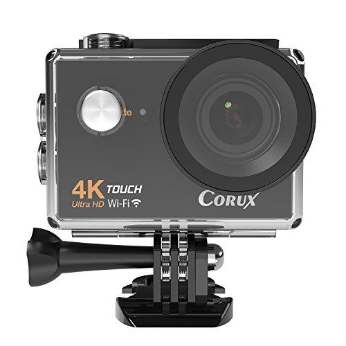 Corux 4K Ultra HD touchscreen sport Action Camera Wi-Fi videocamera 16MP 170obiettivo grandangolare immersione 30meters impermeabile, con 2x batterie