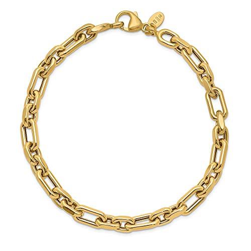14k oro giallo lucido uomo Fancy braccialetto di Leslie