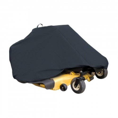 Classic Accessories 73997 Zero Turn Riding Lawn Mower Cover, Black, Up to 50