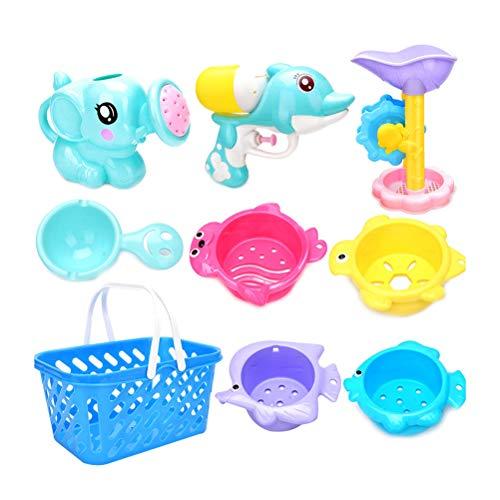 TOPCOMWW 6Pcs Random Color Summer Sand Sandbeach Kids Plastic Beach Toys Castle Bucket Spade Shovel Rake Water Tools Sets